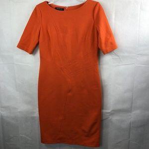 Lafayette 148 New York Orange Shift Dress Size 4